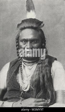 Chief Running Deer, a Crow, circa 1845 - Stock Photo