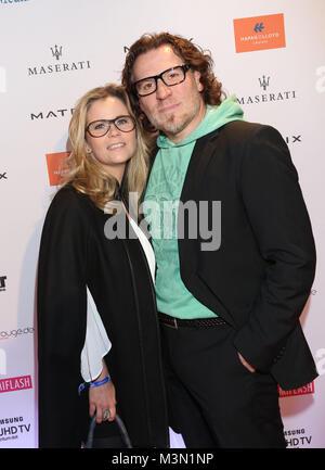 Michaela Schaffrath und   Carlos Anthonyo  , Movie meets Media 2016  im Hotel Atlantic Kempinski, Hamburg am 28.11.2016 - Stock Photo