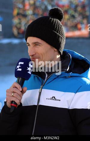 Martin Schmitt (TV-Experte /Skisprung-Experte, ARD, Das Erste, Ex-Weltmeister) beim Neujahrsskispringen 2017 - Stock Photo