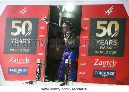 ZAGREB, CROATIA - JANUARY 4th, 2017 : A celebration marking the 50th anniversary of the FIS World Cup in alpine - Stock Photo