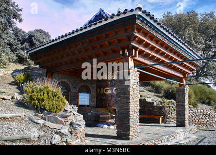 O Sel Ling, Centro de Retiros, Buddhist Retreat, Las Alpujarras, Andalusia, Spain - Stock Photo