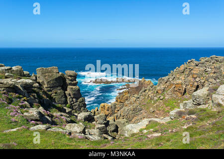 gwennap head on the penwith peninsular in cornwall, england, britain, uk. - Stock Photo