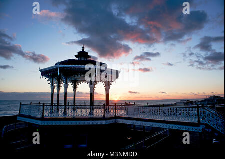 The Bandstand on Brighton's seafront first opened in 1884 and is considered to be one of the finest examples of - Stock Photo