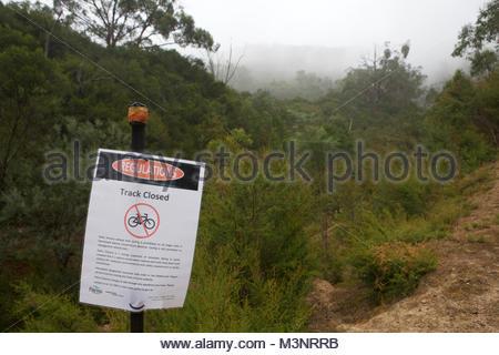 Closed MTB Single Track - landscape format - Stock Photo