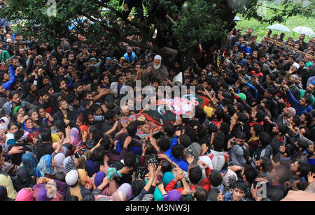 people carry dead body of slain rebels, Sopore town, Kashmir, India, Asia - Stock Photo