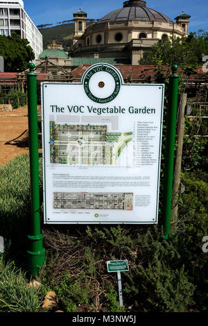 The Dutch-period Vereenigde Oost-Indische Company (VOC) vegetable and herb garden in the Company's Garden in Cape - Stock Photo