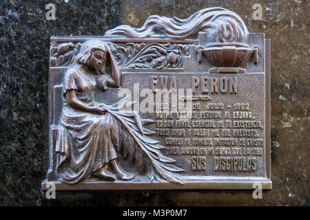 Detail from La Recoleta Cemetery in Buenos Aires, Argentina. - Stock Photo