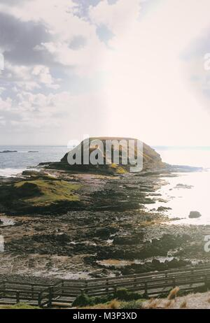 A look out on Phillip Island, Victoria - Stock Photo