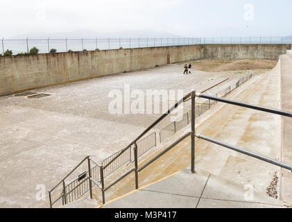SAN FRANCISCO, CALIFORNIA  - JUNE 16: Interior views of the Alcatraz Island in San Francisco on June 16, 2015. The - Stock Photo