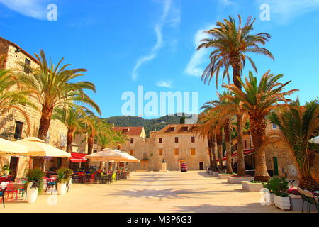 Straigrad town on Island Hvar, Croatia - Stock Photo