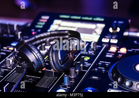 Pioneer RDJ-RX DJ deck during a gig.  February 2018 - Stock Photo