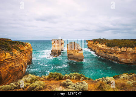 Loch Ard Gorge  in Victoria, Australia, near Port Campbell - Stock Photo