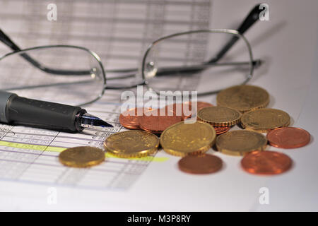 expenditure or revenue account, profit or loss - Stock Photo
