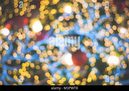 ... Blurred Glitter Ball Celebrate Christmas Tree With Illumination Bulb  Light Background, Soft Color Cinematic Vignette
