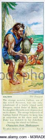 Characters from Shakespeare - Caliban, The Tempest - Stock Photo