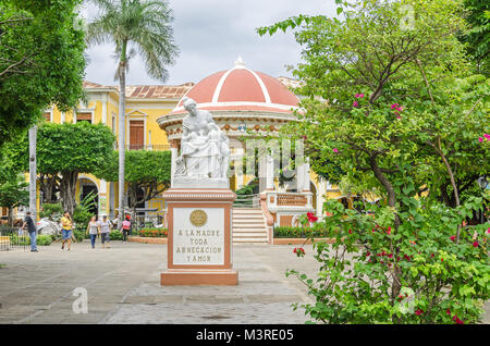 Granada, Nicaragua - 25 October, 2017: Central Park in Granada, historically one of Nicaragua's most important cities. - Stock Photo