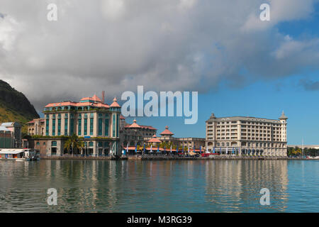 City and embankments. Port Louis, Mauritius - Stock Photo