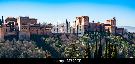 Granada, Spain: Alhambra palace and fortress complex. - Stock Photo