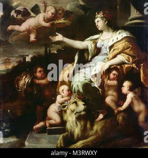 Luca Giordano - Allegory of Magnanimity - Stock Photo