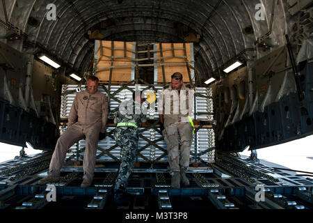 Swedish air force 1st Lt. Urban Lundberg, Bulgarian air force Sgt. Hristo Gyurov and Netherlands air force Cpl. - Stock Photo