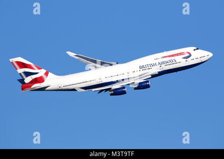 British Airways 747-437 - Stock Photo