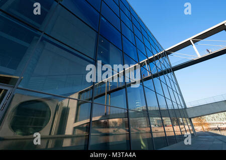 External view of modern Government buildings , Paul Lobe Haus on River Spree in central Berlin, Germany - Stock Photo
