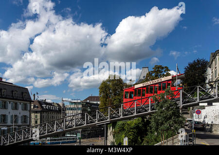 Polybahn at Central, Zurich, Switzerland - Stock Photo