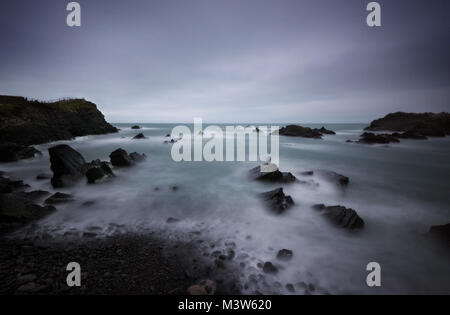 Hartland Quay United Kingdom taken in 2015 - Stock Photo
