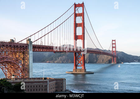 Beautiful cityscape of Golden Gate Bridge - Stock Photo