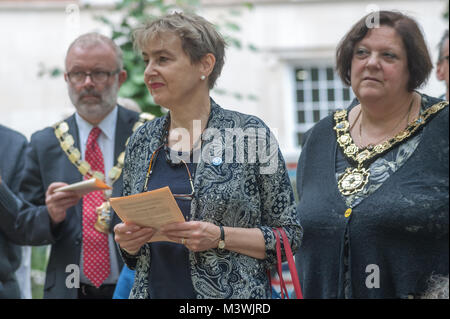 CND Chair Kate Hudson with the mayors of Islington and Camden at the annual commemoration which this year marked - Stock Photo