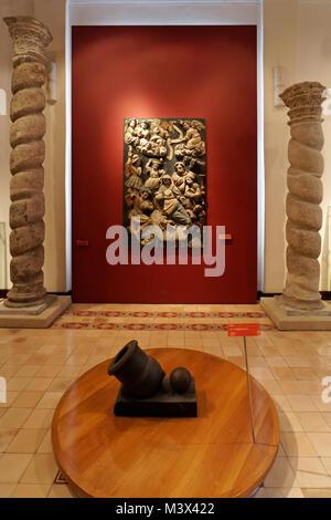 History exhibits in the City Museum or Museo de la Ciudad in Merida, Yucatan, Mexico - Stock Photo