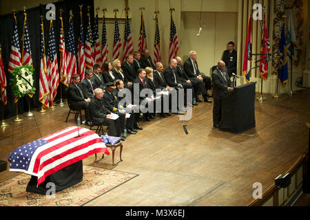 St. Louis, MO 13 March 2011-  U.S. Marshal for the Eastern District of Missouri, William Sibert delivers remarks - Stock Photo