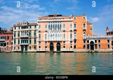 Houses on the Grand Canal, Venice, 2017. - Stock Photo