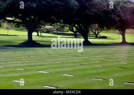 National Memorial Cemetery of the Pacific, Hi - Stock Photo