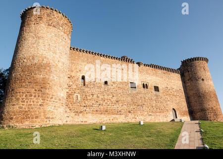 Castle of Valdecorneja. Barco de Avila, Spain. - Stock Photo