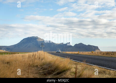 Hitting the road in southern Iceland europe backrounds - Stock Photo