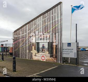 Wall at Scottish Maritime Museum in Irvine North Ayrshire Scotland UK - Stock Photo