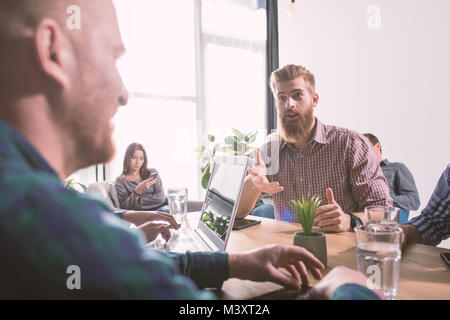 Businessperson in office connected on internet network. concept of partnership and teamwork - Stock Photo