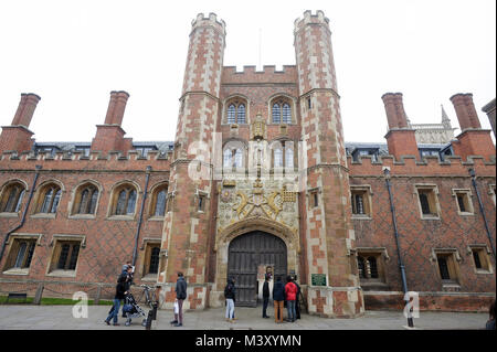 The Main Gate of St John's College founded in 1511, University of Cambridge one of the oldest universities in the - Stock Photo