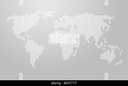 world map vertical lines - Stock Photo