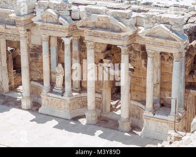 Hierapolis City Ruin in Turkey in Pamukkale. - Stock Photo