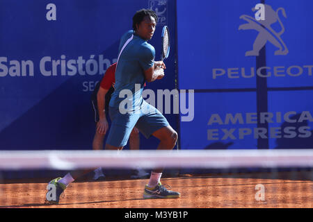 Buenos Aires, Argentina. 12th February, 2018. Gael Monfils during the match for first round of main draw of Buenos - Stock Photo