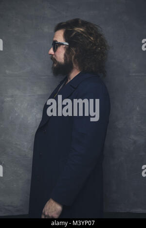 January 16, 2018 - Los Angeles, California, U.S - Artist JIM JAMES of My Morning Jacket during a portrait session. - Stock Photo