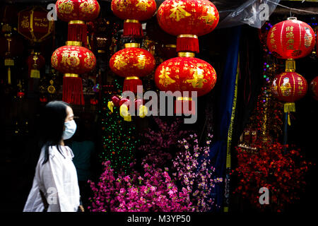 West Jakarta, Jakarta, Indonesia. 14th Feb, 2013. Lanterns decorated for the upcoming Chinese Lunar New Year in - Stock Photo