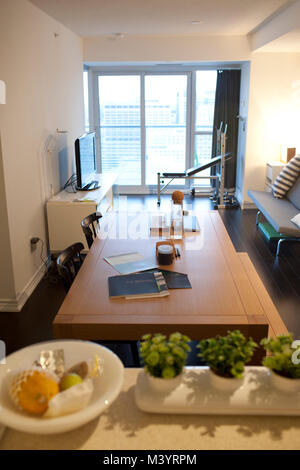 A furnished Aura building condo, which will be the largest residential building in Canada, in downtown Toronto, - Stock Photo