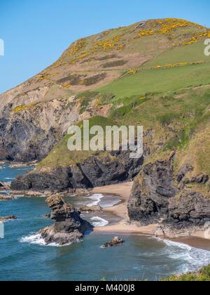 Llangranog New Quay Blaencelyn Ceredigion Wales - Stock Photo
