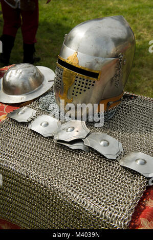 Italy, Lombardy, Casei Gerola, Historical reenactment of the battle for the defense of the castle - Stock Photo
