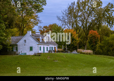 Beautiful Cottage House in Public Park in Gatineau,  Quebec City, Canada - Stock Photo