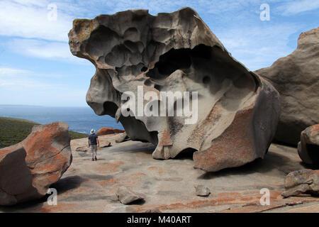 Remarkable Rocks at Flinders Chase National Park on Kangaroo Island - Stock Photo