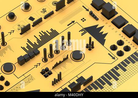 3d infographic background, business concept. 3D illustrating - Stock Photo